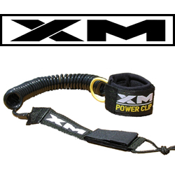 XM COILED SUP LEASH 10ft  W/POWER CLIP