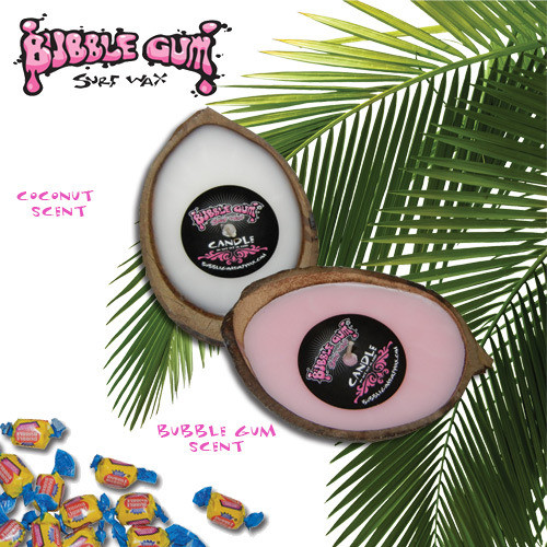 BUBBLE GUM HALF SHELL CANDLE