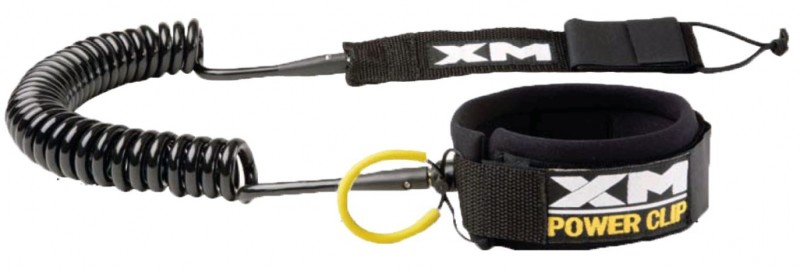 XM COILED SUP LEASH 9ft W/POWER CLIP