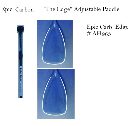 "Epic Carbon ""The Edge"" Adjustable Paddle"