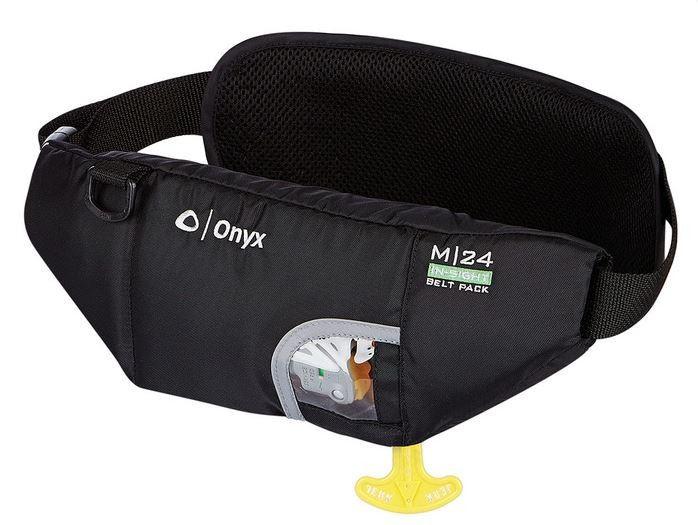 "ONYX M-24 ""IN-SIGHT"" INFLATABLE PFD W/BOTTLE HOLDER"